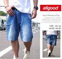 ALL GOOD 【オールグッド】ハーフパンツ メンズ フェイクデニム B系 ファッション メンズ ヒップホップ ストリート系 ファッション HIPHOP