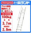 (代引不可 直送品) ハセガワ アルミ 仮設階段はしご K-11-600