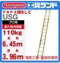(代引不可 直送品) ハセガワ FRP 2連はしご USG-64