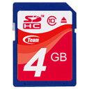【送料無料】SDカード 4GB class10 メモリーカード SDHCカード 10年保証付 TEAM チーム TG004G0SD28X
