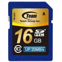 【送料無料】SDHCカード 16GB class10(クラス10) 10年保証付 メモリーカード SDカード TEAM SDカード最大20MB/秒 [TG016G0SD28K]【チーム】