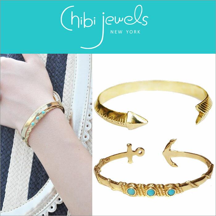 【在庫一掃アイテム!】 chibi jewels チビ ジュエルズ バングル レディース ジュエリー ゴールドカフ チビジュエル ブレスレット chibi jewels Gold Cuff C型バングル チビ ジュエルズ ブレスレット CHIBI JEWELS Bracelet