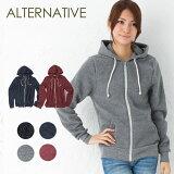 【期間限定セール!】Alternative Apparel オルタナティブ アパレル Rocky Eco-Fleece Zip Hoodie エコフリース ジップアップ パーカー