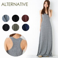 AlternativeApparel���륿�ʥƥ��֥��ѥ��RacerBackMaxiDress�졼�����Хå��ޥ����ɥ쥹01968E1�ڳڥ���_������