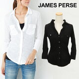 JAMES PERSE �������ॹ�ѡ��� Contrast Panel shirt ����ȥ饹�� �ѥͥ� ����� [ WUA3042 ] �� SHEER SLUB SIDE PANEL SHIRT �������ॹ�ѡ��� ��ǥ����� �ȥåץ� 7ʬ�桡�����