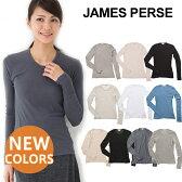 【限定クーポンで5%オフ!】 JAMES PERSE ジェームスパース Tシャツ ロングTシャツ SHEER SLUB LONG SLEEVE CREWシア—スラブクルーネック ロングスリーブ ジェームスパース Tシャツ [WUA3361] 長袖 ロングTシャツ レディース CASUAL