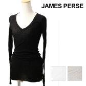 【限定クーポンで5%オフ!】 JAMES PERSE ジェームスパース Tシャツ COTTON CASHMERE LONG SKINNY DEEP V [WVA3040] コットンカシミア ロング Tシャツ ジェームスパース Tシャツ 長袖 ロングスリーブ レディース