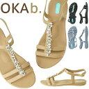 ショッピングオカビー オカビー OKA b. ノラ サンダル Norah Sandal サンダル トングサンダル 靴 ビーチサンダル 歩きやすい 疲れにくい フラットシューズ ビーチ リゾート ギフト ビーチサンダル