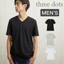 スリードッツ Tシャツ Three Dots SHORT SLEEVE V-NECK TEE [BO1V646] スリードッツ カットソー 半袖 Tシャツ メンズ 【メール便】