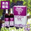 青森県産ぶどう果汁100% スチューベンジュース『完熟』 720ml 2本セット【青森 あおもり