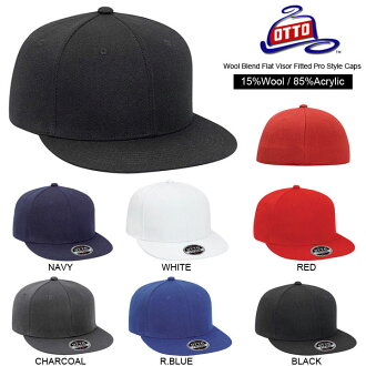 ! Otto wool mix フラットバイザープレーンベース ball cap BB Cap Baseball hat mens Womens unisex ニューエラタイプバックアジャ star no solid ys-ot-h0969