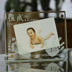 ガラスフォトフレーム 赤ちゃん メモリアル
