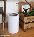 レザーラウンドカバーダストボックス(袋が見えない)送料無料 北欧 ボックス 500WORKS.ゴミ箱 おしゃれ 蓋付 ゴミ箱 ごみ箱 ごみばこ ダストBOX くずかご