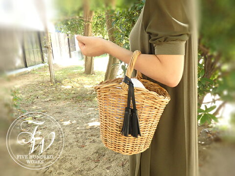 【500WORKS.】LILY'S BAG(リリーバッグ)S【女性用バッグ/カゴバッグ/かごバッグ】