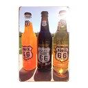 【ゆうメール送料無料】 アメリカンレトロ調 サインプレート ROUTE66 デザイン瓶