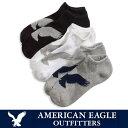 ゆうパケット送料無料【American Eagle】アメリカンイーグルスニーカーソックス・靴下・AE Low-Cut Sock 3-Pack(ae-a111)3...
