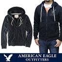 アメリカンイーグル American Eagleメンズ フルジップパーカー(ae1766) 暖か裏起毛 ダークネイビー