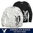 ショッピングアメリカンイーグル American Eagle・アメリカンイーグルメンズ ロンT 長袖 ロングTシャツ(ae261)ホワイト・ブラック