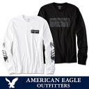 American Eagle アメリカンイーグル メンズAE ロングTシャツ ロンTee ae262 ホワイト ブラック