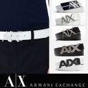 アメリカ正規入荷【ARMANI EXCHANGE】A/X アルマーニ エクスチェンジMENS BELT/ レザーベルト 正規(ax415)白 ホワイト 黒 ブラック