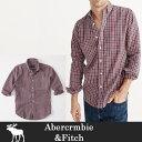 ショッピングAbercrombie \エントリーするだけで【ポイント5倍】/4/21までアバクロ メンズ 長袖シャツ A&F Abercrombie ab617 レッドチェック