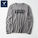 アメリカンイーグル 長袖 Tシャツ メンズ AE American Eagle 正規品 ae1980 グレー 大きいサイズ