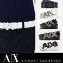 ショッピングアルマーニ A/X アルマーニ・エクスチェンジ ARMANI EXCHANGE 正規 メンズ 本革ベルト レザーベルト ax415 ホワイト ブラック