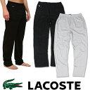 【LACOSTE】 ラコステ メンズ ワンポイントコットンパンツ la10 ブラック グレー 男性用