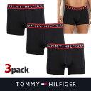 USA直送【TOMMY HILFIGER】トミーヒルフィガーメンズ 下着 ボクサーパンツ ブラック 3枚セット t426 送料無料