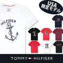 USA直送【TOMMY HILFIGER】トミーヒルフィガーメンズ Tシャツ t463 レッド ブラック ネイビー ホワイト 米国正規 大きめサイズ