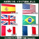 【ゆうパケット送料無料】アメリカ国旗 USA /France フランス/UK イギリスCanada カナダ/Brazil ブラジル/Spain スペイン6カ国 国旗 フラッグ zakka01