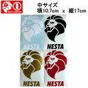 【NESTA BRAND】ネスタブランド New縦ステッカー中サイズ/10.7cm×17cm/ホワイト ブラック ゴールド レッド【あす楽対応】