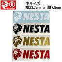 【NESTA BRAND】ネスタブランド New横ステッカー中サイズ/23.7cm×7.5cm/ホワイト ブラック ゴールド レッド【あす楽対応】