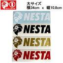 【NESTA BRAND】ネスタブランド New横ステッカー大サイズ/34cm×10.8cm/ホワイト ブラック ゴールド レッド【あす楽対応】