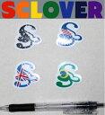 【SCLOVER】 スクローバーLOGO ミニステッカー/ブラジル・USA・UK・ダークレオパード/全4色