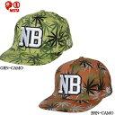 【nst-co1303sp】【NESTA BRAND】ネスタブランド 帽子 メンズスナップバック キャップ 野球帽 /グリーン ブラウン/【あす楽対応】