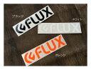 【FLUX BINDING】フラックス LOGO DIECUT STICKER Large ロゴカッティングステッカー 22cm×5.3cm【あす楽対応】