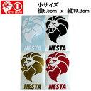 【NESTA BRAND】ネスタブランド New縦ステッカー小サイズ/6.5cm×10.3cm/ホワイト・ブラック・ゴールド・レッド【あす楽対応】