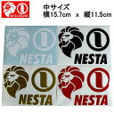 【NESTA BRAND】ネスタブランド New横ステッカー中サイズ/15.7cm×11.5cm/ホワイト ブラック ゴールド レッド【あす楽対応】