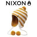 ショッピングps5 【nix-nc1680-406】日本正規品【NIXON】ニクソン/ON THE RUN BEANIE レディースビーニー ニット帽 帽子/MUSTARD/