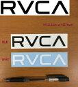 【RVCA】ルーカ ブランドロゴ カッティングステッカー サーフィン スノーボード スケートボードに 12.1cm x 2.4cm ブラック ホワイト 【あす楽対応】