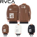 【RVCA】ルーカ 2019秋冬 メンズ ALL OVER RVCA CREW トレーナー スウェット トップス サーフィン スケートボード XS/S/M/L 3カラー【あす楽対応】