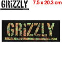 【GRIZZLY】グリズリー ロゴステッカー SKATEBOARD 7.5×20.3cm【あす楽対応】