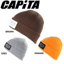 【CAPITA】キャピタ2015秋冬/FACTORY BEANIE ビーニー 折り返し ニット帽 帽子/3カラー【あす楽対応】 align=