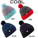 【Coal】コール 2013-2014 THE JACKIE BEANIE レディース ポンポン付 リブ ビーニー 折り返しOK ニット帽 /4カラー【あす楽対応】 align=