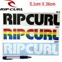 【RIP CURL】リップカール カッティングステッカー/3カラー ホワイト ブラック ラスタカラー【あす楽対応】
