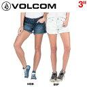 【VOLCOM】ボルコム2016春夏 STONED SHORT 3″レディースショートパンツ ショーパン デニム 0〜7 2カラー【あす楽対応】