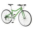 自転車 配送先一都三県一部地域限定送料無料 FIAT AL-CRB 7006 LOOP グリーン 700C 6段変速ギア 700×28C フィアット クロスバイク 軽量 フラットハンドル 通販 おしゃれ