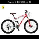 アルミニウム FB2612G-ALTA フェラーリ 前後クイックレリーズハブ 外装24段変速ギア マウンテンバイク 26インチ 赤 レッド 自転車 自転車 Ferrari フェラーリ マウンテンバイク 送料無料