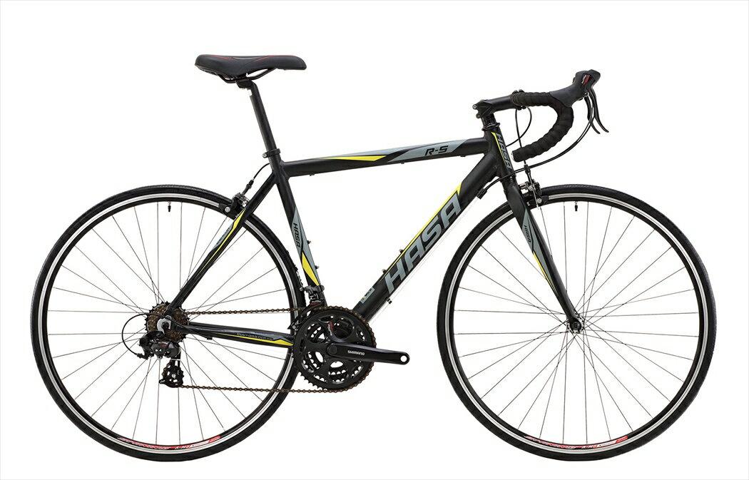送料無料 ロードバイク  HASA R5 Tourneyブラック×イエロー フレームサイズ 500mm ロードバイク 自転車 HASA R5 ROAD-BIKE SHIMANO Tourney ロードバイク HASA 外装21段ギア 700c 初心者向けHASAのロードバイク。シーンを選ばない利用しやすいロードバイク。 外装21段ギア 700cで初めてのエントリーモデルロードバイクに最適 ハサ ロードバイク
